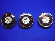 3 ESCADA ENAMEL AND GOLD TONE LOGO REPLACEMENT BUTTONS EXCELLENT CONDITION $49