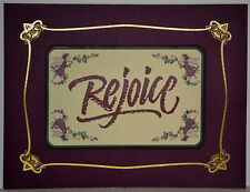 "Set of 12 MAGNETIC CARDS Christmas/Holiday Greetings ""REJOICE"", !FREE SHIPPING!"