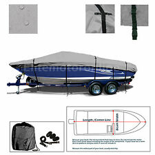 Lund 1775 Pro-V All Weather Trailerable Fishing Bass Ski Jon Boat Cover Grey