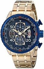 Invicta Men's Aviator Chronograph Compass Gold Plated Stainless Steel 19173