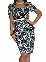 New Ladies Office Work Dress Pencil Party Womens Elegant Size 10 12 14 16 18 20