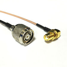 """SMA female RA to RP TNC male plug pigtail cable RG178 6"""" for wireless router NEW"""
