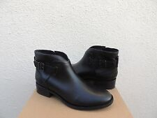 UGG BARNETT BLACK WATER-RESISTANT LEATHER CHELSEA ANKLE BOOTS, US 10/ EUR 41 NEW