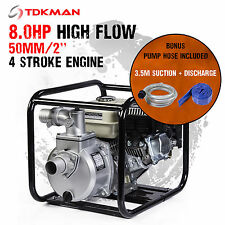 """New 2 Inch 2"""" Petrol High Flow Water Transfer Pump Hose Fire Fighting Irrigation"""