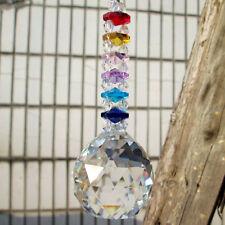1 Rainbow Suncatcher Cut Crystal Ball Pendulum Lamp Prisms Pendants Drops 30mm