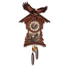 ELEGANT RUSTIC MAJESTIC WILDLIFE BALD EAGLE CUCKOO CLOCK CLOCKS NEW