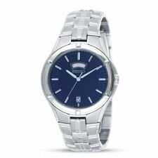 SEIKO DRESS BLUE DIAL DAY & DATE STAINLESS STEEL MEN'S WATCH SGEE37 NEW