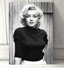 Marilyn Monroe B&W Portrait A4 metal plaque Shabby Chic picture home deco