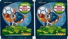 Chile version 2014 Panini Road to FIFA World Cup Brazil Sticker Pack x2