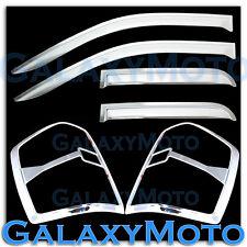 14-15 Chevy Silverado 1500 Chrome Taillight Trim Cover+Vent Shade Window Visor