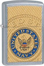 Zippo United States US Navy Seal Stamp Street Chrome WindProof Lighter NEW 29383