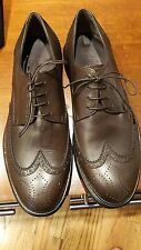 Salvatore Ferragamo Men's Brown Wingtip Oxfords 8 EEE 3E