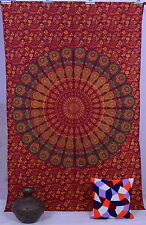 Indian Vintage Colcha Hippie Mandala Boho Decoración Pared Tapiz Psicodélico