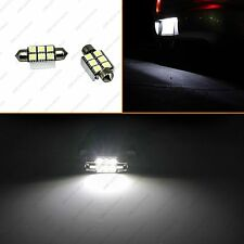 2x36mm White Canbus 6SMD LED Festoon Bulbs C6W 6418 License Plate Light No Error