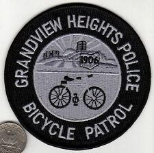 BICYCLE PATROL GRANDVIEW HEIGHTS POLICE PATCH Crest Cloth Badge/Shield Bike