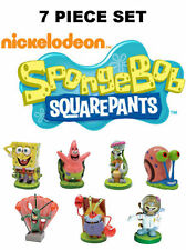 7 Piece Set SpongeBob, Patrick, Squidward, Sandy, Mr Krabs, Plankton, Gary