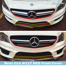 New Painted Red Mercedes Benz CLA-Class W117 4D Front Bumper Lip Cover Sport 16+