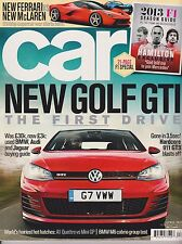 CAR UK MAGAZINE APRIL 2013, NEW GOLF GTI, GONE IN 3.5 SEC! 21-PAGE F1 SPECIAL.