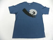 Quiksilver Waterman Collection T shirt Large Paddler Blue