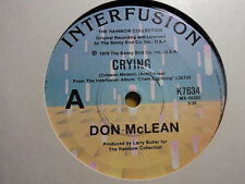 "Don McLean ""Crying"" (Roy Orbison composition) Oz 7"""