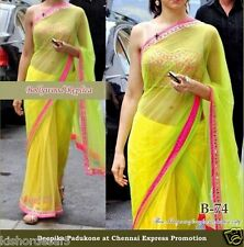 Saree Exclusive Beautiful Designer Bollywood Indian Saree Partywear Sari 168