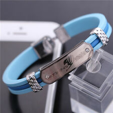Light Blue Silica Gel Fairy Tail Sign Bracelet/Wristband/Cuff Free shipping