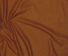 RAW SILK NOIL Fabric CARAMEL BROWN -By The Yard- 45""