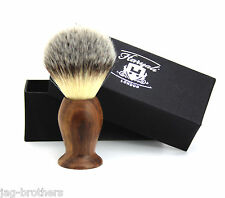 Synthetic Hair shaving Brush look like a Badger hair Brush in Wooden Handle