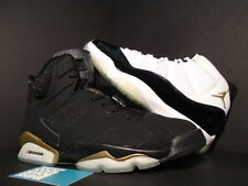 2005 Nike Air Jordan VI 6 XI 11 RETRO DEFINING MOMENTS DMP BLACK GOLD WHITE 9.5