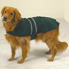 LARGE GREEN REFLECTIVE DOG COAT JACKET Dalmatian clothing L clothes CLEARANCE!!