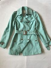 Banana Republic aqua blue Cotton Double breasted trench Jacket M