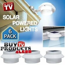 Details about  6 Pack Deal - Outdoor Solar Gutter LED Lights - White Sun Power