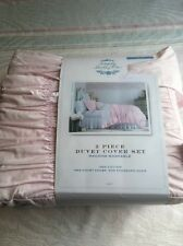 Simply Shabby Chic Pink Ruched Duvet Cover Sham Set ~ NEW TWIN