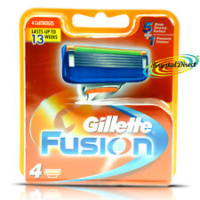 Gillette Fusion Manual Blades Pack of 4 Cartridges