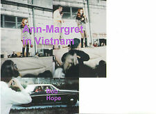 ANN MARGRET BLACK BOOTS ON STAGE AT BOB HOPE SHOW VIETNAM 1968 LOT OF 3 PHOTOS