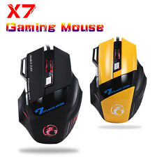3200DPI 8D ESTONE X7 Optical 7 Buttons Usb Wired Gaming Mouse PCs WOW CS LOL CF