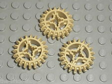 3 x Engrenage LEGO TECHNIC Tan Gear 20 Tooth ref 32269 /Set 41999 9398 8043 8297