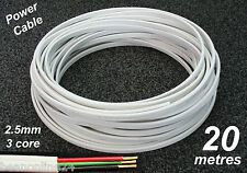 20M Roll x 2.5mm Electrical Cable Flat 3 core (2C+E) Wire for Power Circuits