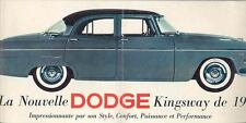 1955 Dodge Kingsway Prestige Brochure Export French y162-7ADYRB
