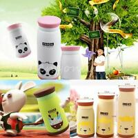 Cute Stainless Steel Vacuum Flask Insulated Travel Mug Cup Coffee Lid