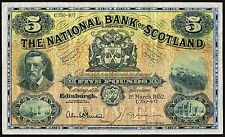 1952 NATIONAL BANK OF SCOTLAND LIMITED £5 BANKNOTE * C750-407 * gVF *