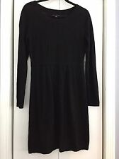 Banana Republic Black Merino Wool Long Slv Sweater Dress Size S