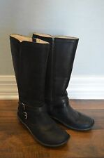 NEW UGG ROSEN WATERPROOF LEATHER BOOTS BLACK size 8M