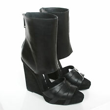 GARETH PUGH $1570 ankle cuff shoes leather wedge heel sandal boots 11/41 NEW