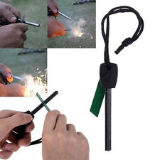 Survival Magnesium Flint Scraper Stone Fire Starter Lighter Kit Camping Hiking