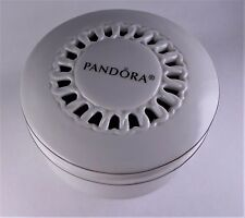 PANDORA PORCELAIN JEWELRY BOX white/silver Limited Edition ~holds Bracelet