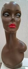 Dark Skin Female Mannequin Head For Wig And Hat Display