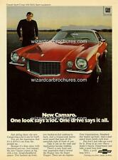 1970 CHEVROLET CAMARO A3 POSTER AD SALES BROCHURE MINT ADVERTISEMENT ADVERT
