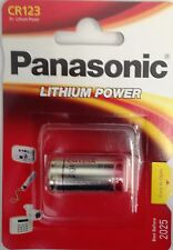 Panasonic CR-123 CR123 DL123 123 123A 3V Lithium Battery IN RETAIL PACKAGING