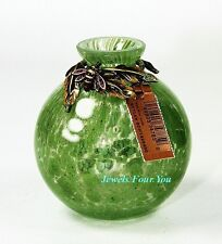 JAY STRONGWATER MINI GREEN VASE WITH BEE SWAROVSKI BRAND NEW WITH TAGS NO BOX